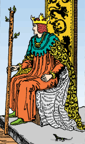 king of wands, king of wands reversed, king of wands love, king of wands yes or no