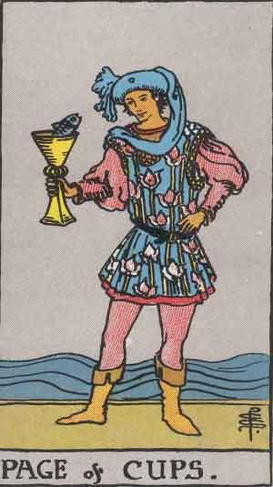 page of cups, page of cups reversed, page of cups love, page of cups as feelings, page of cups yes or no