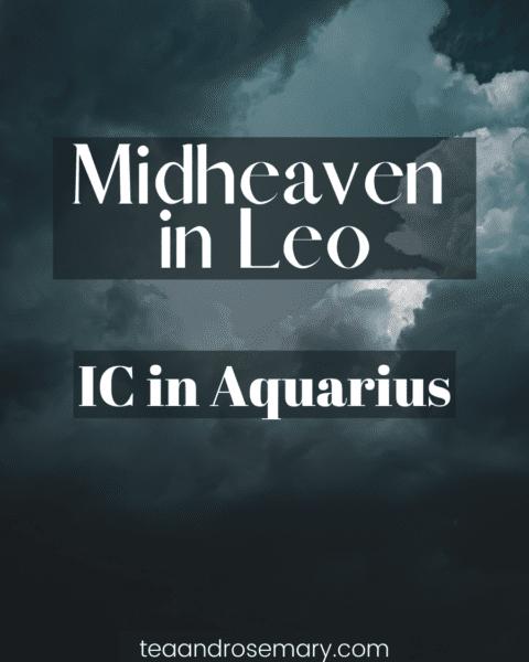 ic in aquarius midheaven in leo