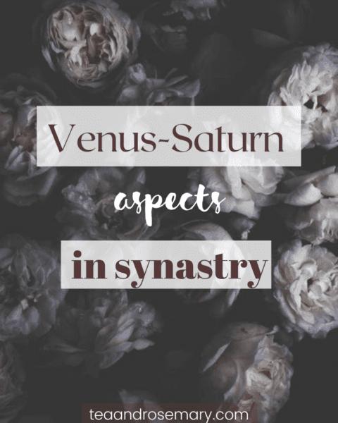 venus-saturn aspects in synastry